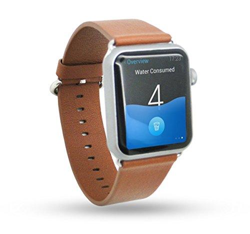Apple Watch Banda - Trop Saint® (42mm) Pulsera de Cuero Genuino Para Apple Reloj - Marrón - Correa de Lujo Con Cerradura de acero inoxidable, Wristband Strap