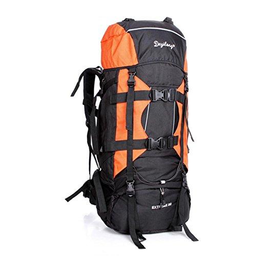 SZH&BEIB Wanderrucksack Extra Large Kapazität 80L für Outdoor-Reisen Bergsteigen Tasche wasserdicht Nylon C