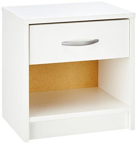 Demeyere Isis 305895 - Mesilla de noche (1 cajón y 1 hueco), color blanco