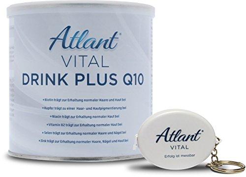 Atlant Vital - Drink Plus mit Coenzym Q10 hochdosiert + L Carnitin + Citrus Bioflvaonoide,Nahrungsergänzungsmittel für Beauty,Vegan, hergestellt in Deutschland -
