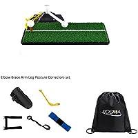 POSMA ST070A - Juego de alfombrillas de golf para practicar balanceo (5 piezas), diseño de codo