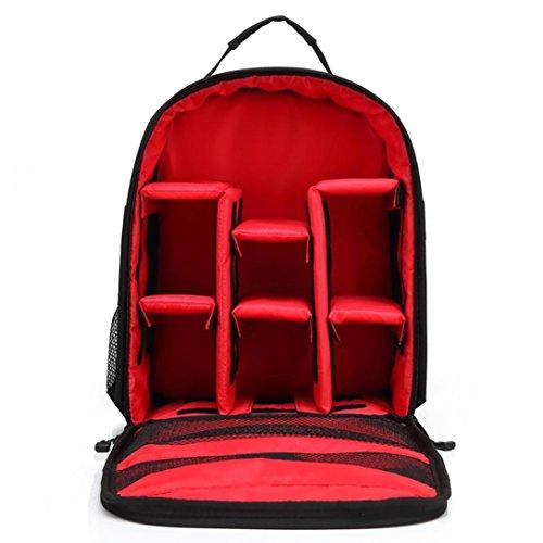 Einzel-schulter Frauen-handtaschen (Kingko® HUWANG Kamera Rucksack Beutel wasserdichter Kasten für Canon für Nikon für Sony (Red))