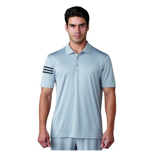 adidas Golf Climacool 3Stripes Club Crestable Shirt Polo-Shirt, Herren S grau -