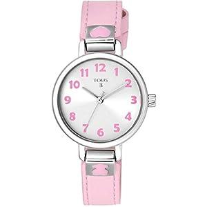 Reloj tous Dream de acero con correa de piel rosa Ref:900350205 Niña