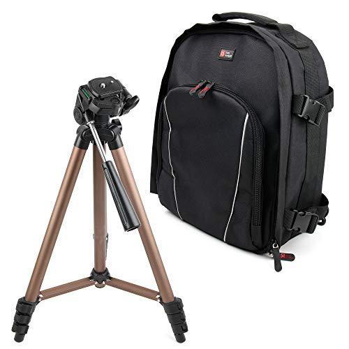 Duragadget zaino multiscomparti + treppiede professionale per fotocamere kodak pixpro fz54, kodak pixpro s-1, kodak pixpro wp1 sport, leica m10, leica tl2