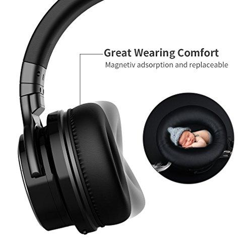 COWIN E7 PRO Auriculares Inalámbricos Bluetooth con Micrófono Hi Fi Deep Bass Auriculares Inalámbricos Sobre El Oído (Hi Res Audio cancelación de ruido Bluetooth 30 horas de autonomía) Negro