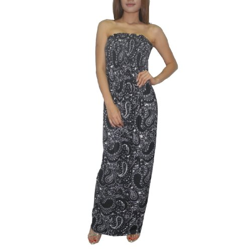 Damen Thai exotic sexy full-length elegant long dress schwarz & Weiß