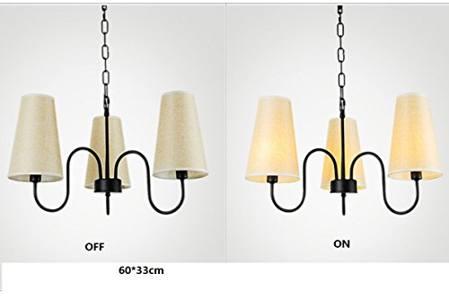 PinWei@Lampadario Lampada da lino ombra, un lampadario di camera da