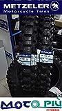 Paar Reifen CROSS zugelassen METZELER MC360 80/100-21 110/100-18 DOT 2017