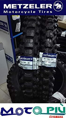 Paire Pneu pneus Cross homologués metzeler MC360 80/100 - 21 110/100 - 18 Dot 2017