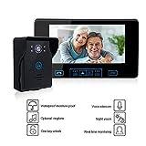 Sistema citofono campanello videocitofonico senza fili da 7 pollici con 1 monitor e telecamera per visione notturna con videocamera e kit campanello per la sicurezza domestica