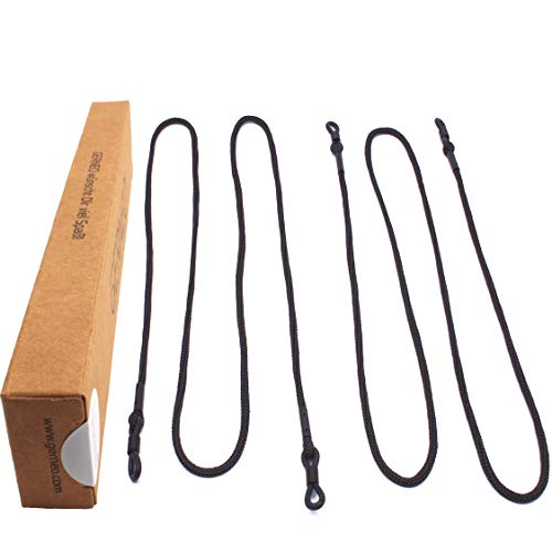 GERNEO GERNEO - DAS ORIGINAL - Premium Brillenband & Brillenkordel Unisex für Lesebrille & Sonnenbrille - schwarz - extra lang - 2er Pack