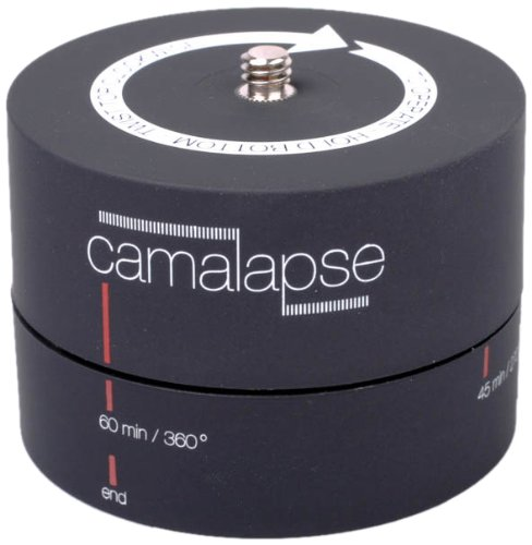 Camarush Camalapse 3 Rotierender Panoramakopf (Stativkopf, Schwenkkopf, Eieruhr) für Panorama & Panning Time-Lapse Zeitraffer-Video mit Digitalkamera & Camcorder