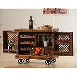 BLS Wood Furniture Solid Wood Jali Bar Tully