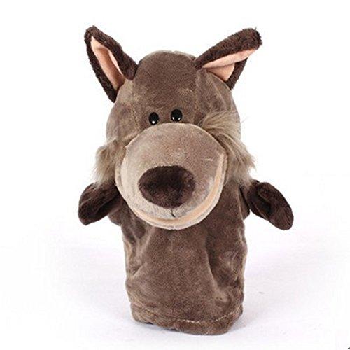 Labellevie Marionetas de mano Mini Muñeca de la Felpa Animales de Juguete Juegos del Bebé Lobo
