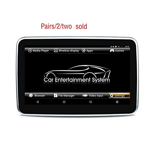 Hahaiyu Monitor per Auto poggiatesta da 10.6 Pollici IPS Touch Screen1080p Android 6.0 WiFi, Bluetooth, FM, USB, TF, Porta HD-in, Google, Multifunzione (Coppie vendute)