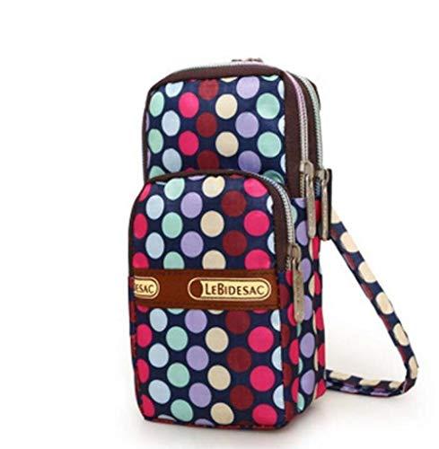 Hüfttasche Frauen-Geldbeutel-Mappen-Kurier-Dame Casual Floral Running Workout-Fall-Gurt-Schulter-Telefon Waterproof Bag Mini Bag - Fall Verstärken Telefon