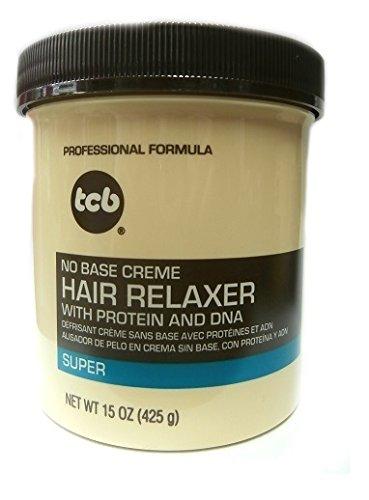 Base Creme Relaxer (Relaxer / Glättungscreme TCB No Base Creme Hair Relaxer SUPER 425g)