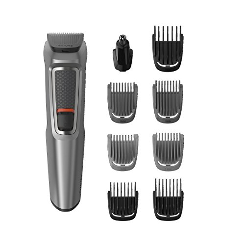 Philips Series 3000 9-in-1 Multi Grooming Kit for Beard and Hair with Nose Trimmer Attachment - MG3722/33