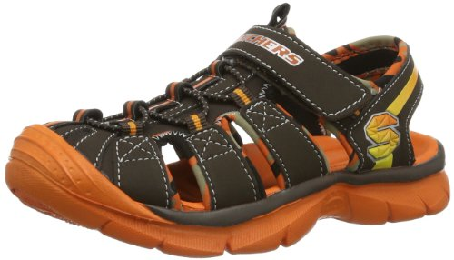 Skechers - Sandali sportivi Relix, Unisex adulto, marrone scuro (Braun (Chor)), 34
