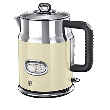 Russell-Hobbs-Wasserkocher-Retro-creme-17l-2400W-Schnellkochfunktion-Wassertemperaturanzeige-im-Retrodesign-Fllmengenmarkierung-optimierte-Ausgusstlle-Vintage-Teekocher-21672-70