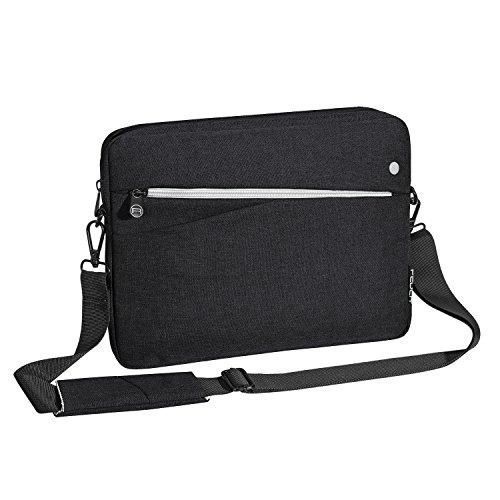 """PEDEA Tablet PC Tasche \""""Fashion\"""" für 12,9 Zoll (32,8cm) Tablet Schutzhülle Tasche Etui Case mit Zubehörfach und Schultergurt, schwarz"""