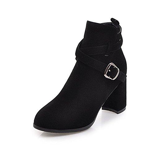 HAIZHEN  Stivaletto Scarpe da donna Scarpe da tiro / moda Boots Outdoor / Ufficio & carriera / Scarpe marrone casual Beige Nero Marrone Grigio 2.75in 7cm Per 18-40 anni ( Colore : Beige , dimensioni  Nero