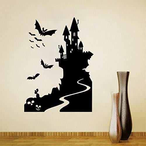 Wohnzimmer Schlafzimmer Kinderzimmer Einfache Mode Aufkleber Persönlichkeit Kreative Halloween Fledermaus Schloss Dekoration Aufkleber Abnehmbare wasserdichte 58 * 79 cm ()