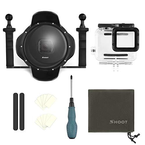 30mWasserdicht 6 Zoll Diving Dome Port Fisheye Gegenlichtblende für GoPro Hero 5 6 7, schwarz, Fisheye-port
