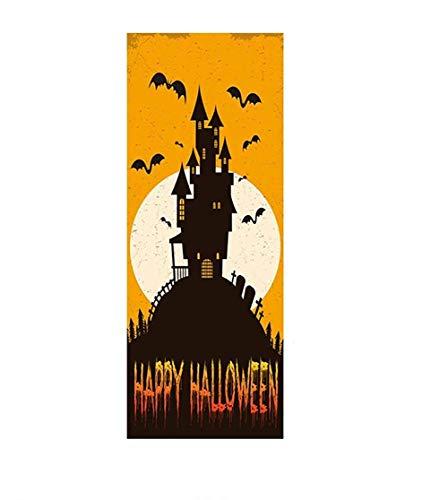Schwarze Burg Halloween Tür Dekoration Aufkleber