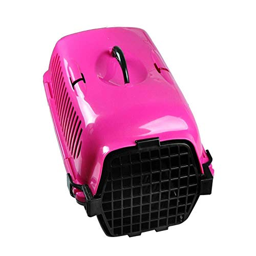 QNJM Pet Travel Carrier Hund/Katze/Welpe Leichte Flugzeugtasche, Transporttasche Für Hund/Katze/Kätzchen, Tierhandtaschenkiste (Color : Pink) (Pink Fluggesellschaft Pet Carrier)