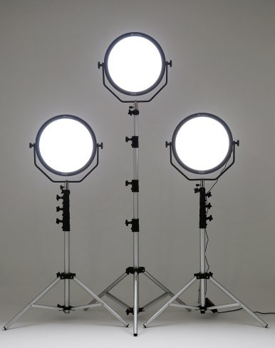 Falcon Eyes 3*SO-48TD 48W FlapJack LED Dimmable 3000-5600K Lighting Soft Light Set with 2.6 Meter Light Stand