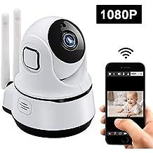 uyikoo 1080P Cámara WiFi, Baby Monitor WiFi P2P Cámara de Vigilancia, Cámara de Seguridad