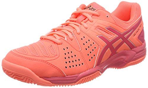 Asics Damen Gel-Padel Pro 3 Sg Tennisschuhe, Mehrfarbig (Flash Coral/Rouge Red/Silver), 42 EU