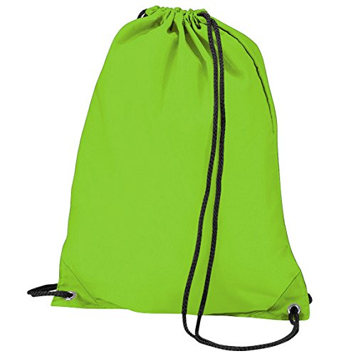 Imagen de bagbase   saco o de cuerdas impermeable/resistente al agua modelo budget deporte/gimnasio 11 litros  talla única/verde lima