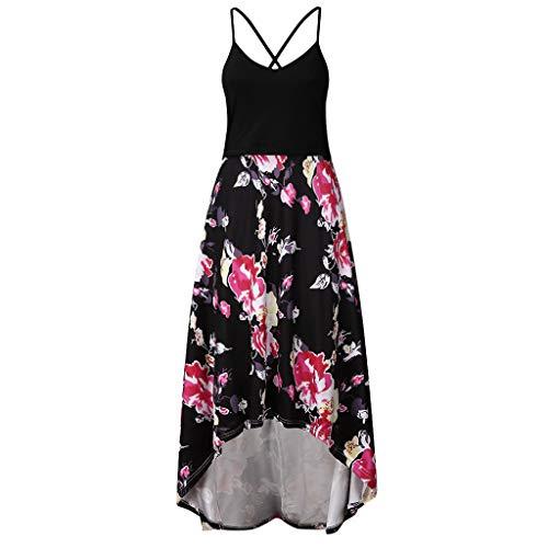 Beonzale Damen Schwangere Kleidung Sommerkleid Für Zuhause Mutterschaft Nursing Pregnanty Spleißen Ärmellos Sling Print Blumenkleid Atmungsaktiv Bequem Trägerkleid -