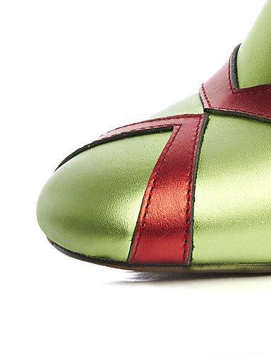 CU@EY Da donna-Stivaletti-Formale / Casual-Con cinghia / Punta squadrata / Stivali-Quadrato-Pelle-Nero / Verde green-us6 / eu36 / uk4 / cn36