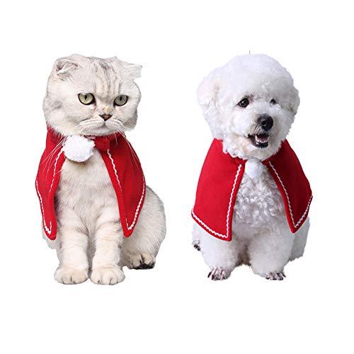 Morbuy Reizende Katzenkostüm Hunde Haustier Weihnachtsumhang Kleidung, Weihnachtsumhang Haustier Kostüme Katze lustiges Hunde Katze Halloween Karneval Cosplay (M, ()