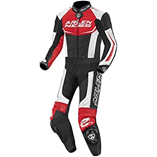Arlen Ness Aragon 2-Teiler Motorrad Lederkombi 50 Schwarz/Rot/Weiß