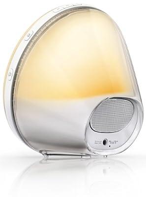 Philips HF3520/01 Wake-Up Light (Sonnenaufgangfunktion, digitales FM Radio) weiß von Philips