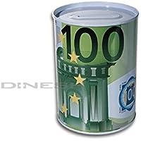 Preisvergleich für (413) Spardose Blechspardose Sparschwein Geldschein Blech Euro 12 x 9 cm (100€ Schein)