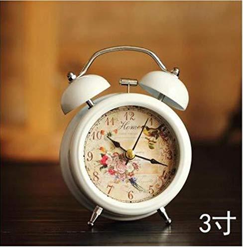 e Schöne Uhren Kleines Bett Kompakte Reise Quarzuhr Nette Tragbare Praktische Schöne Timer Alarm 3 Zoll ()