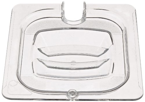 Rubbermaid 1/6 Gastronorm Notched Hard Cover - Clear