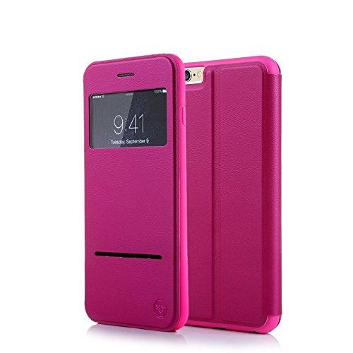 nouske-custodia-a-per-iphone-6-e-6s-finestra-da-47-pollici-con-sensore-touch-intelligente-rosa-caldo