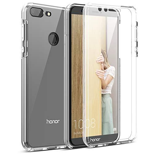 CE-Link Kompatibel mit Huawei Honor 9 Lite Hülle 360 Grad Crystal Clear Transparent Hüllen mit Integriertem Displayschutz Silikon und PC Handyhülle Schutzhülle für Huawei Honor 9 Lite Durchsichtige