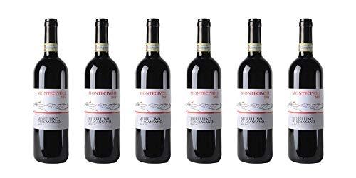 6 bottiglie di Morellino di Scansano DOCG (Bio) | Cantina Montecivoli | Annata 2015