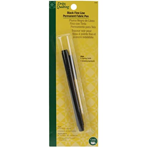 Dritz Ink Quilting Permanent Fabric Pen-Fine-Black