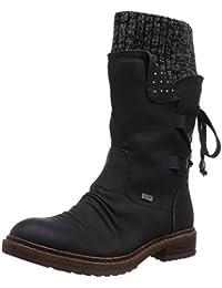 Rieker 94773 Damen Halbschaft Stiefel