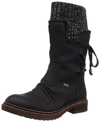 Rieker 94773 Damen Halbschaft Stiefel, schwarz (schwarz/black-grey/00), 38