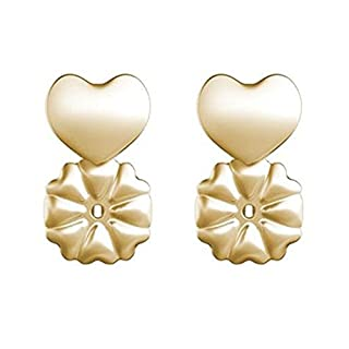 An-sell 2018 Magic Earring Backs Hypoallergenic Fits all Post Earrings Make Earring Balance from Front to Back (1Pair 18K Gold)